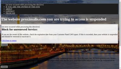 Capture d'écran du site de PROXIMALIS
