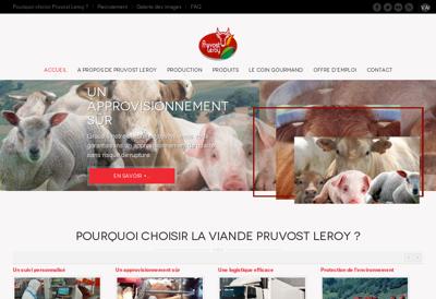 Capture d'écran du site de Groupe Pruvost