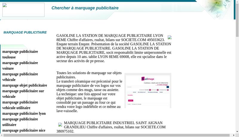 Capture d'écran du site de Publi Line