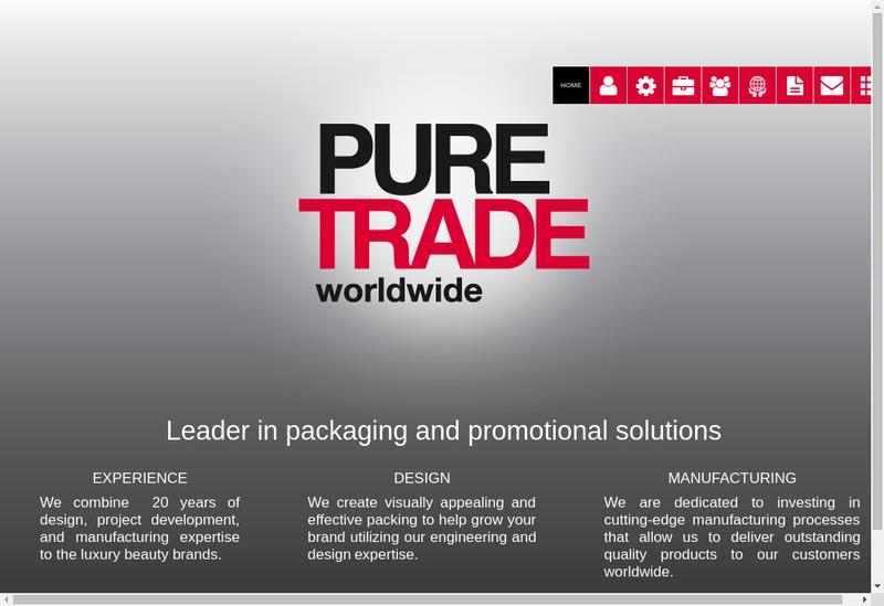 Capture d'écran du site de Pure Trade Worldwide