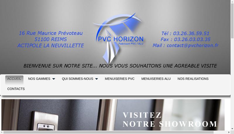 Capture d'écran du site de PVC Horizon