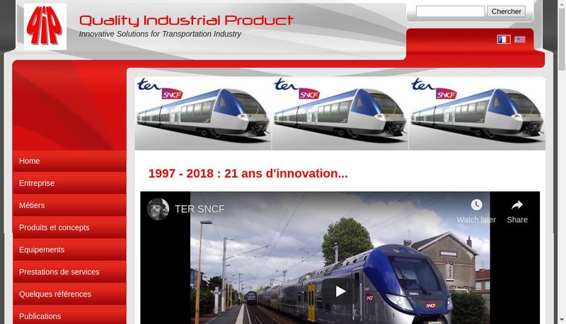 Capture d'écran du site de Quality Industrial Product