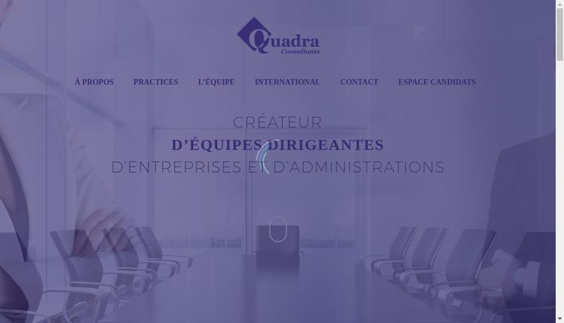 Capture d'écran du site de Quadra Consultants