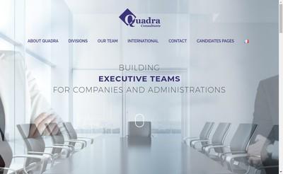 Site internet de Quadra Consultants