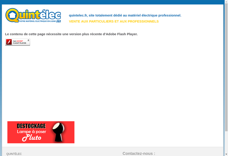 Capture d'écran du site de Quintelec