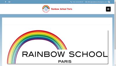 Capture d'écran du site de Rainbow School Paris