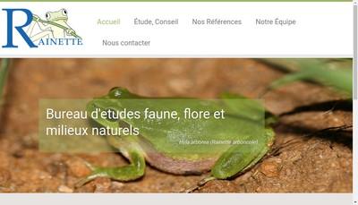 Site internet de SARL Rainette