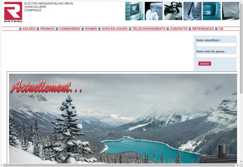 Capture d'écran du site de Societe des Ets Rateau