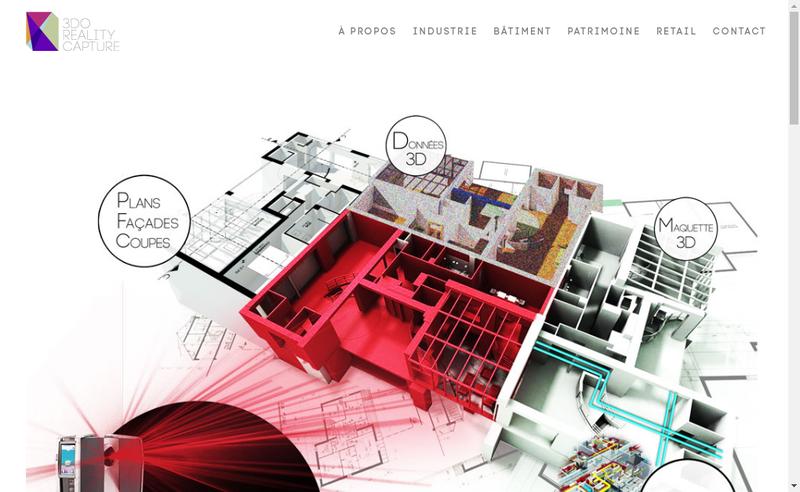 Capture d'écran du site de 3Do Reality Capture