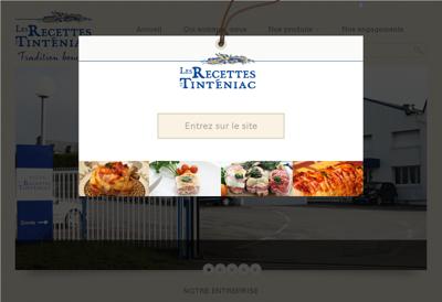 Capture d'écran du site de Les Recettes de Tinteniac