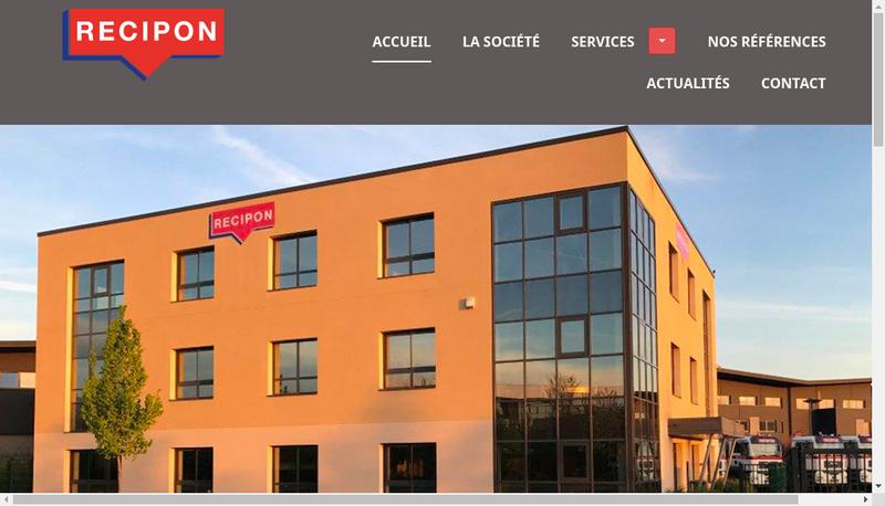 Capture d'écran du site de Recipon Materiel
