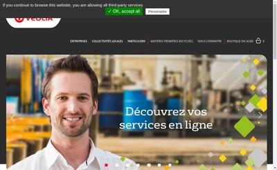 Site internet de Veolia Proprete Normandie