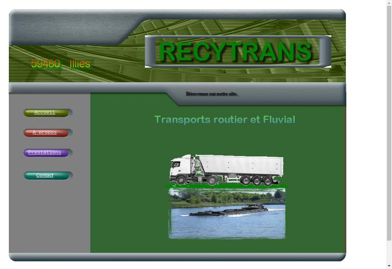 Capture d'écran du site de Recytrans