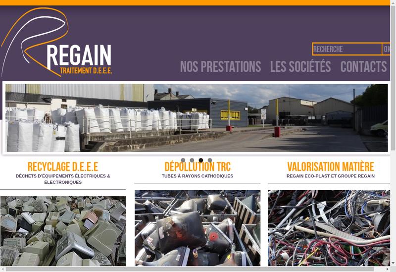 Capture d'écran du site de Regain Eco Plast