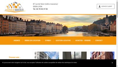 Capture d'écran du site de La Regionale Immobiliere