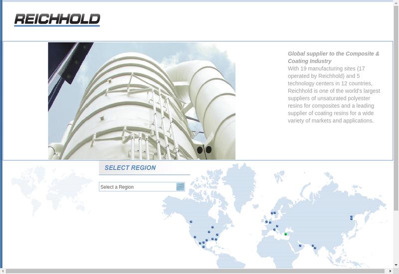 Capture d'écran du site de Reichhold