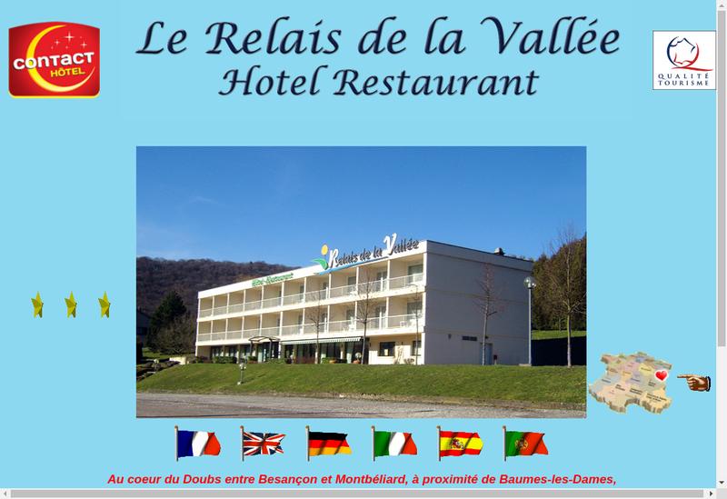 Capture d'écran du site de Le Relais de la Vallee