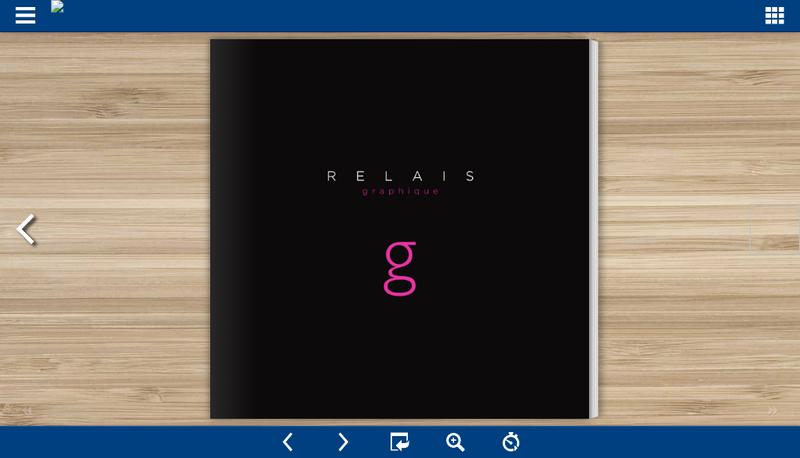 Capture d'écran du site de Relais Graphique