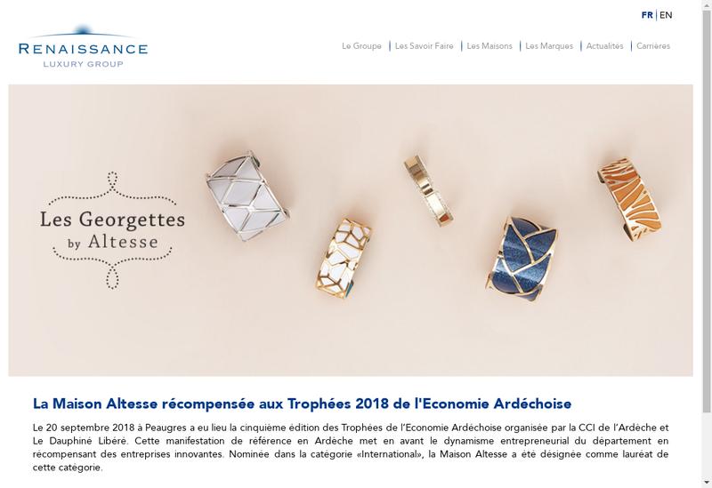 Capture d'écran du site de Renaissance Luxury Group