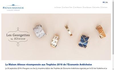 Site internet de Renaissance Luxury Group