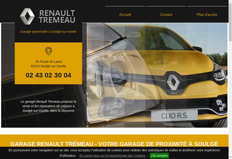Capture d'écran du site de Garage Tremeau