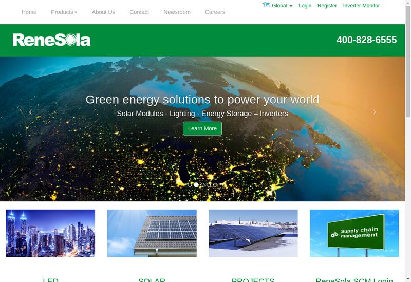 Site internet de Renesola France