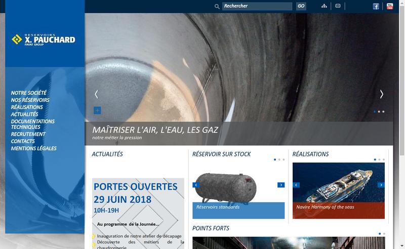 Capture d'écran du site de Reservoirs X Pauchard