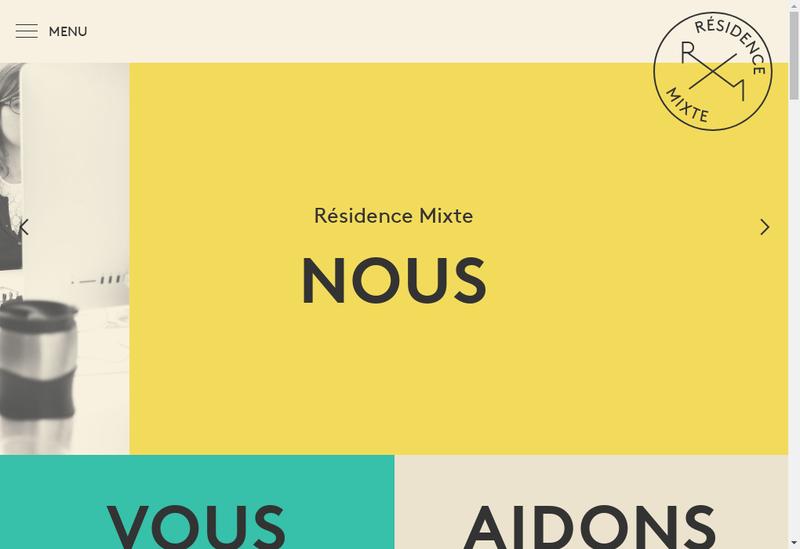 Capture d'écran du site de Residence Mixte