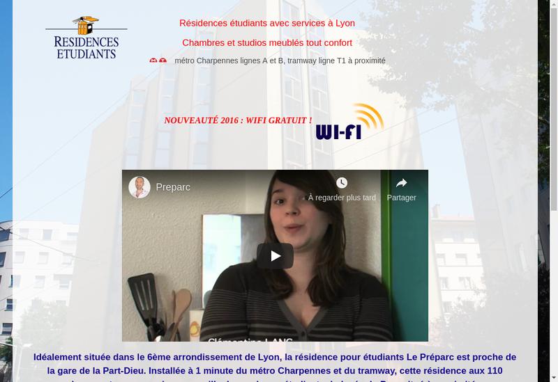 Capture d'écran du site de Gesparc
