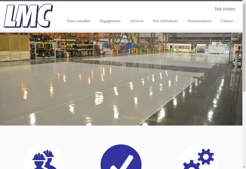 Capture d'écran du site de Lmc SARL