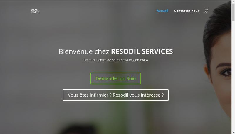 Capture d'écran du site de Resodil