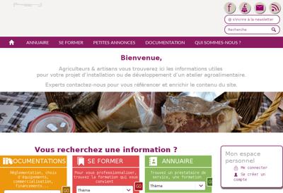 Capture d'écran du site de Isomir
