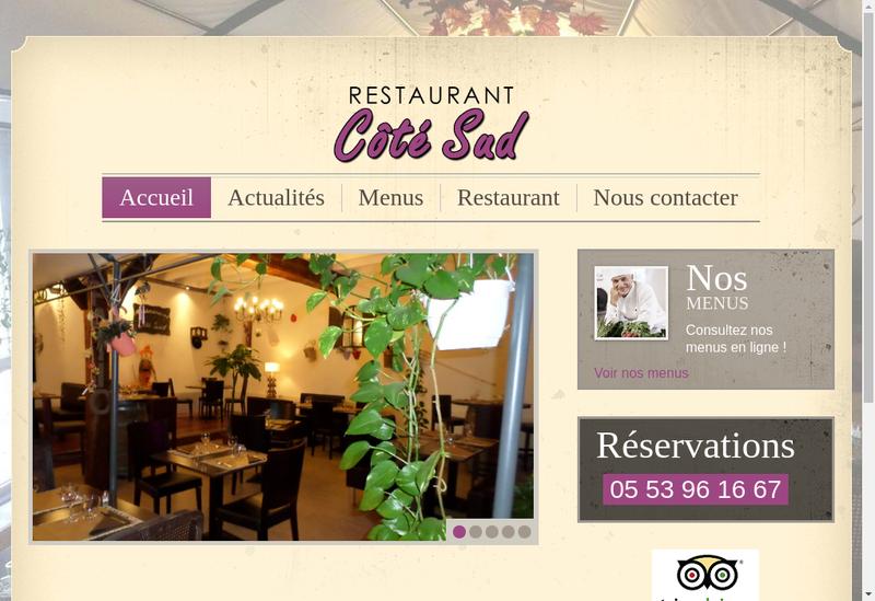 Capture d'écran du site de Cote Sud