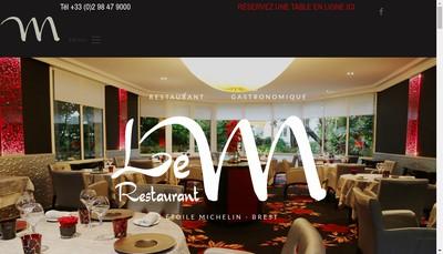 Site internet de Le M Restaurant