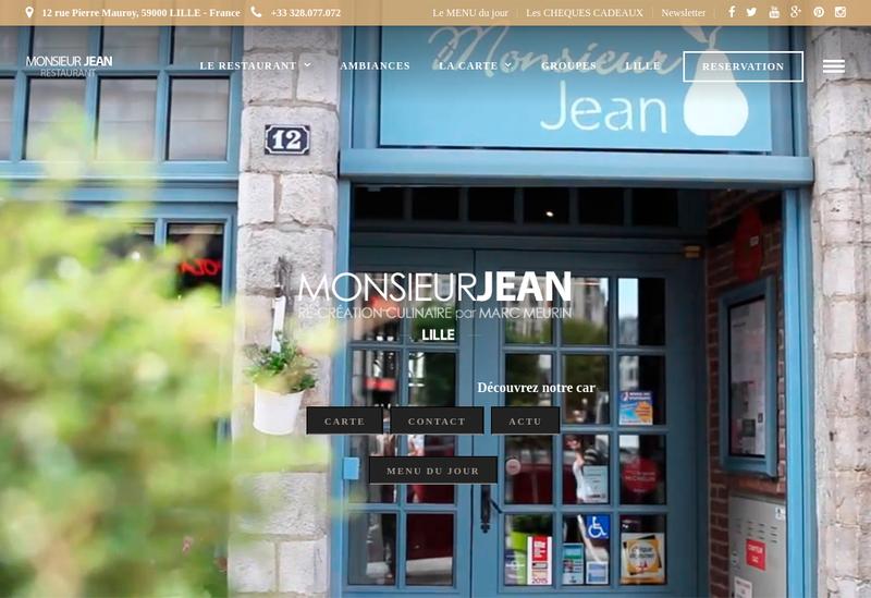 Capture d'écran du site de Le Meurin Lille
