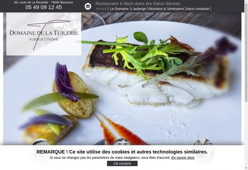 Capture d'écran du site de Domaine de la Tuilerie Auberge Citadine