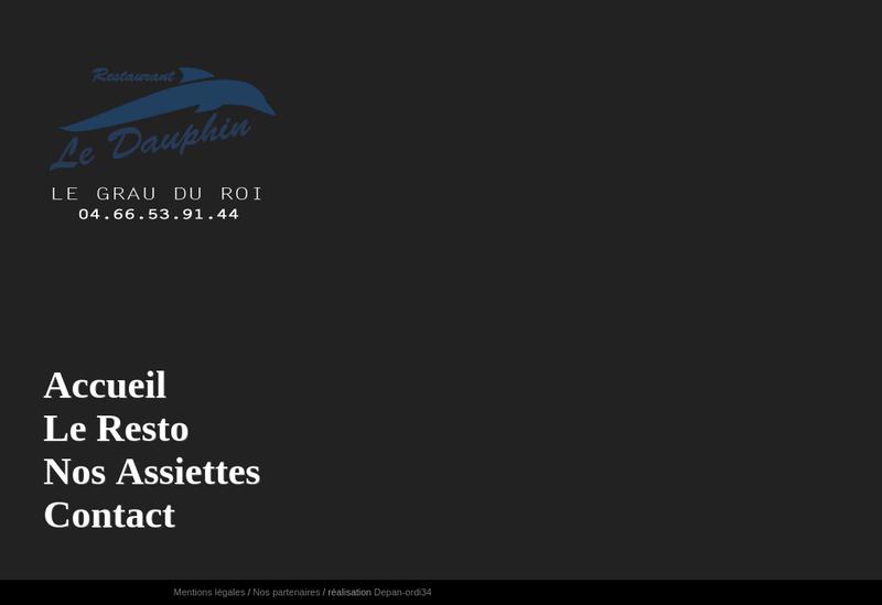 Capture d'écran du site de Le Dauphin