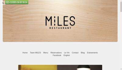Capture d'écran du site de Miles