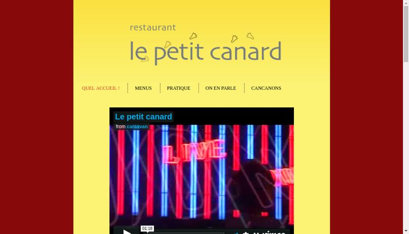 Capture d'écran du site de Le Petit Canard