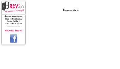 Capture d'écran du site de Rev Video Concept