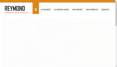 Capture d'écran du site de Menuiserie Reymond SARL