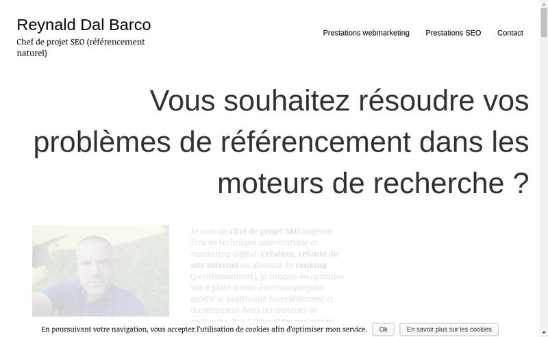 Capture d'écran du site de Reynald dal Barco