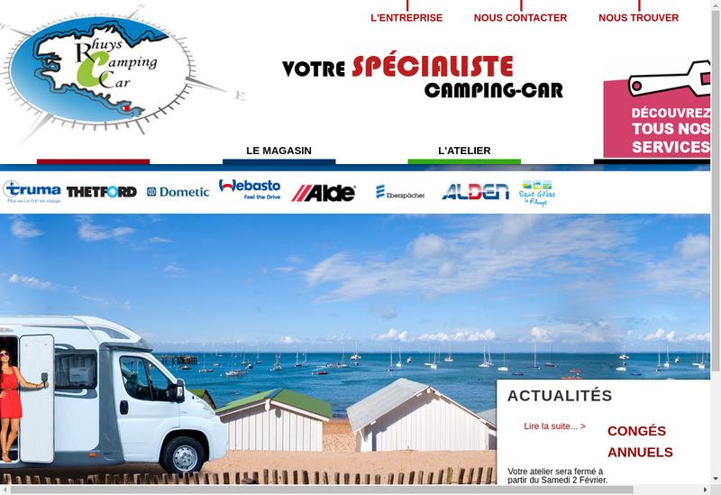 Capture d'écran du site de Rhuys Camping Car