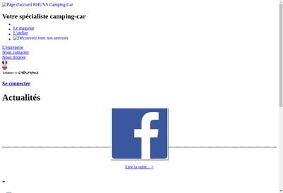 Site internet de Rhuys Camping-Car