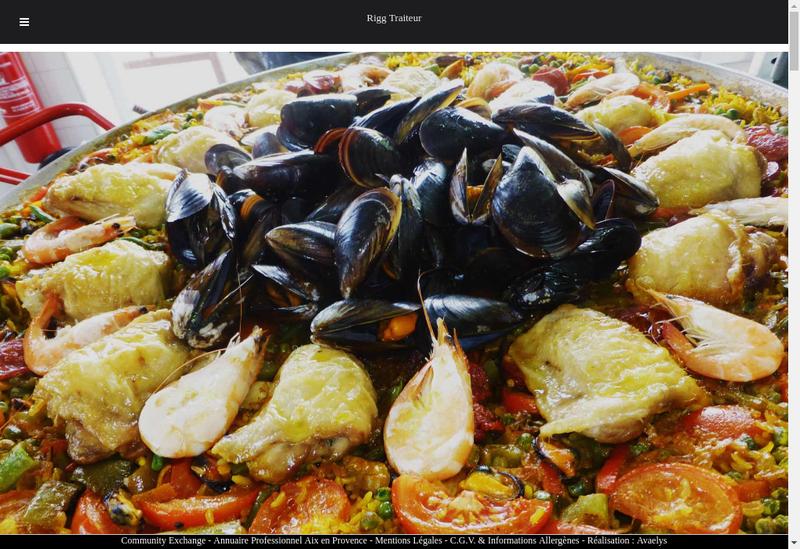 Capture d'écran du site de Rigg Traiteur