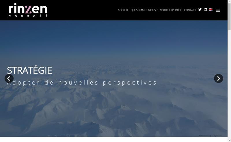 Capture d'écran du site de Rinzen