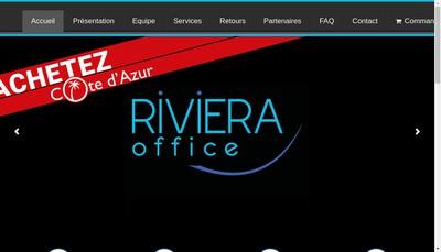 Site internet de Riviera Office