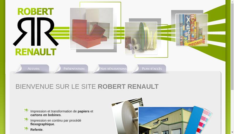 Capture d'écran du site de Robert Renault et Compagnie