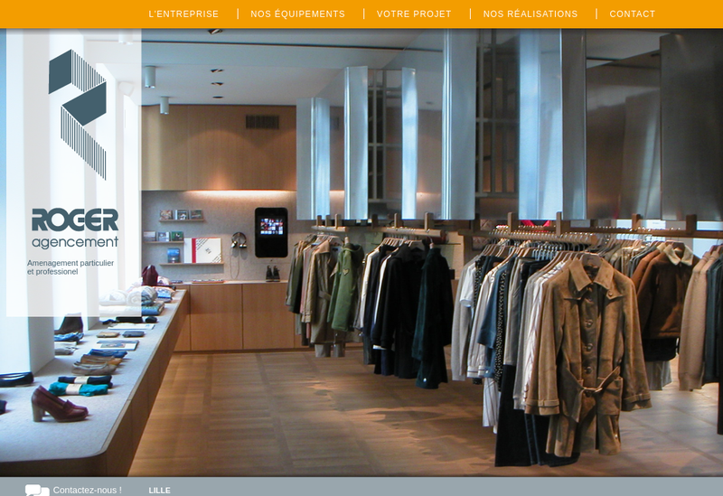 Capture d'écran du site de Roger Agencement