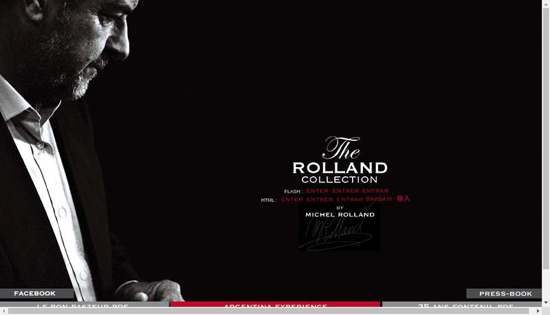 Capture d'écran du site de Rolland Collection